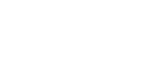 New Quay Wales Music Festival Logo Text